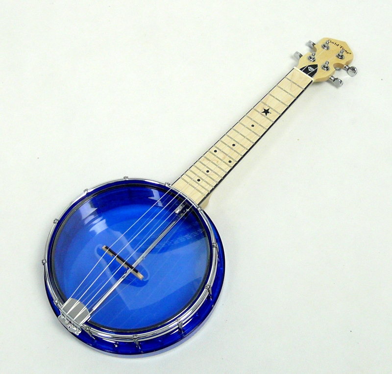 GOLD TONE LITTLE GEM LG-S BANJOLELE - SAPHIRE
