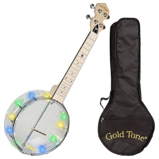 GOLD TONE LITTLE GEM LG-D LIGHTS BANJOLELE - DIAMOND