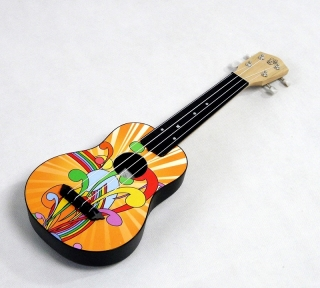 ML-002 MAHILELE SOPRANO UKULELE - ABS TĚLO - YELLOW FUN